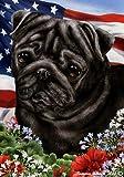 "Pug Black Dog – Tamara Burnett Patriotic I Garden Dog Breed Flag 12"" x 17"" Review"