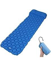 Camping Isomatte Kleines Packmaß - Ultraleichte Isomatte - Aufblasbare Luftmatratze - Schlafmatte für Camping, Reise, Outdoor, Wandern, Strand (Blau1)