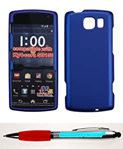 Accessory Factory(TM) Bundle (the item, 2in1 Stylus Point Pen) KYOCERA S3150 Titanium Solid Dark Blue Phone Protector Cover