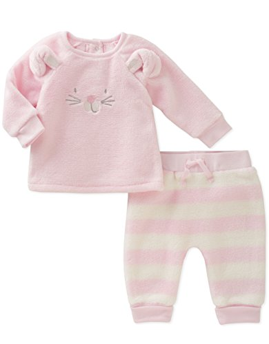 absorba Baby Silky Sherpa Pant Set-Girl