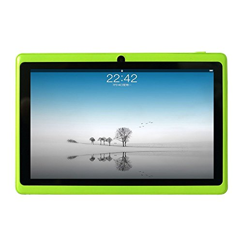 [2019 Upgrade] YUNTAB 7 inch Gaming Tablet, 1GB+8GB, Google Android OS, Allwinner A33 1.5GHz Quad core CPU, 1024600 Touch Screen with WiFi Pre-Loaded 3D Game and Dual Camera.(Green)
