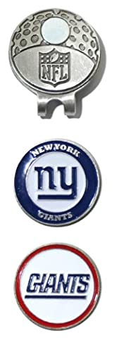 NFL New York Giants Cap Clip With 2 Golf Ball Markers - Magnetic Ball Marker