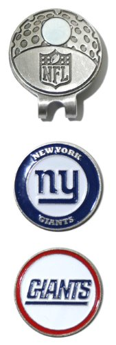 NFL New York Giants Cap Clip With 2 Golf Ball Markers