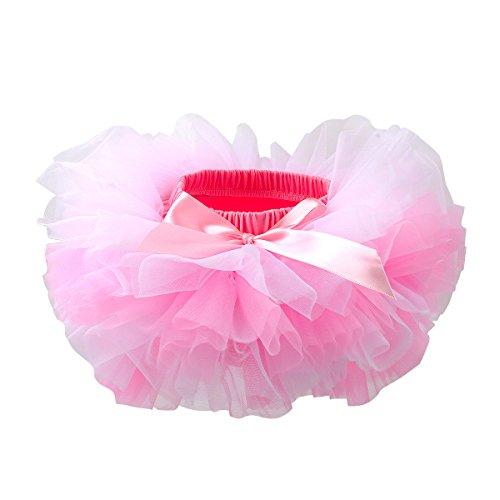 Slowera Baby Girls Soft Tutu Skirt (Skorts) 0 to 36 Months (S: 0-6 Months, Pink White)