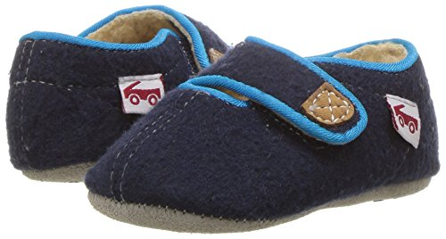 See Kai Run Boys' Cruz Shearling Slipper, Navy, 2 M US Infant - Image 6