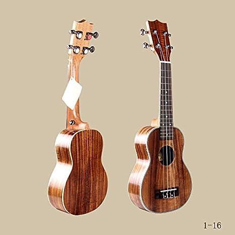 GFEI _69cm cuatro cuerdas Acacia fondo guitarra Ukulele: Amazon.es ...