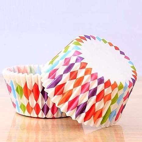 DDLBiZ 100 pz pirottini per muffin e cupcake incarto coppetta di carta Rainbow rivestimento
