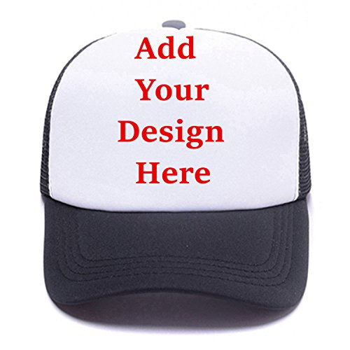 - Personalized Snapback Trucker Hats Custom Unisex Mesh Outdoors Baseball Caps Black