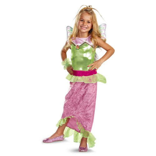 Disguise Girl's Winx Club Flora Mermaid Classic Costume, 10-12 -