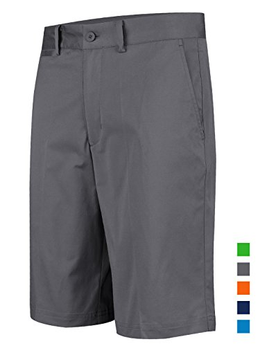 Lesmart Men's Performance Golf Shorts Bright Colored Big Tall Short Pants Size 34 Grey