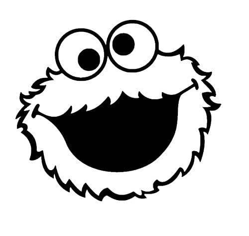 Amazon.com: Cookie Monster Face vinyl decal, Cookie ...