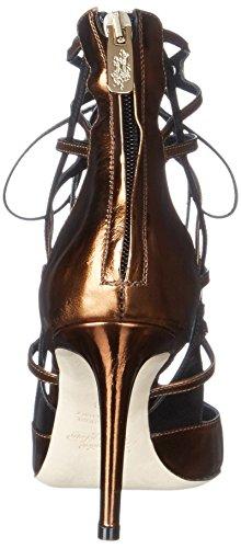 Alejandro Ingelmo Womens 12103 Robe Pompe Specchio / Bronze / Noir