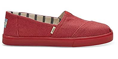 TOMS Randy's Donuts Sprinkle Womens Alpargata Espadrille Red Size: 5