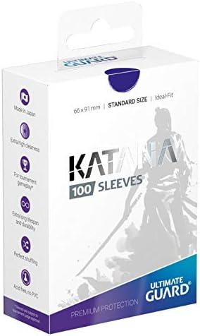Ultimate Guard Matte Blue Katana Sleeves Standard Size 100 ct Card Sleeves Individual Pack