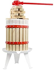 Fruit Wine Press 4.75 Gallon Solid Wood Basket Cider Press Apple Press Berries Press Wine Making Press