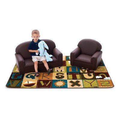 Brand New World Toddler Enviro-Child Upholstery Sofa - Chocolate