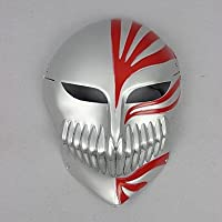 cosplay? bleach ichigo hueco máscara cosplay plata