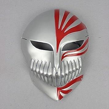 cosplay? bleach ichigo hueco máscara cosplay plata: Amazon.es: Deportes y aire libre