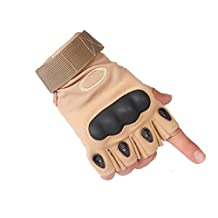 Yingniao Fingerless Hard Knuckle Tactical Gloves for Driving Army Gear Sport Shooting Riding Motorcycle