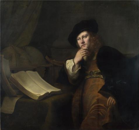 Oil painting `フェルディナント・ボル–An Astronomer、1652` Perfect Effectキャンバスに印刷、24x 26インチ/ 61x 65cm、最高のパウダールームアートワークとホームギャラリーアートとギフトはこのが安いアート装飾アート装飾プリントキャンバスの商品画像