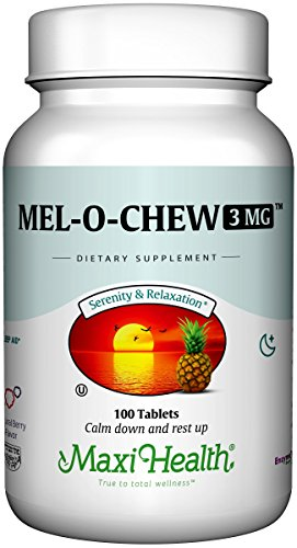 Mel-O-Chew by Maxi Health | High-Potency Kosher Chewable Melatonin - Sleep Aid And Stress Relief | Clinically Proven For Tranquil Sleep | 100 Chewable Tablets - 3MG (Delicious Berry (Kosher Chewable)