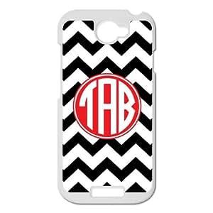 Black and White Chevron VS Retro Red Monogram Design Custom Luxury Cover Case For HTC One S( White ) ALL MY DREAMS!!