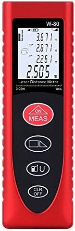 Telémetro, Medidas LCD Retroiluminados Área De Terreno De Juego M/A/Ft Y El Volumen De 80 Millones / 262 FT En El Modo De Medición De Alta Precisión Múltiple