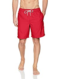TBVS 79 Syrian American Half Flag Mens Quick Dry Bathing Suit with Side Pockets