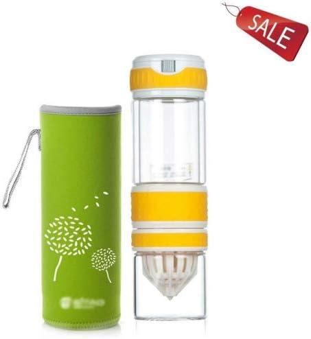 Vasos para té y café Taza Vaso exprimidor Vidrio Botella Termo de Viaje de vacío de los niños vacío Aislamiento Oficina Negocios Familia Regalo Leche café té 550ml Verde (Color : B):