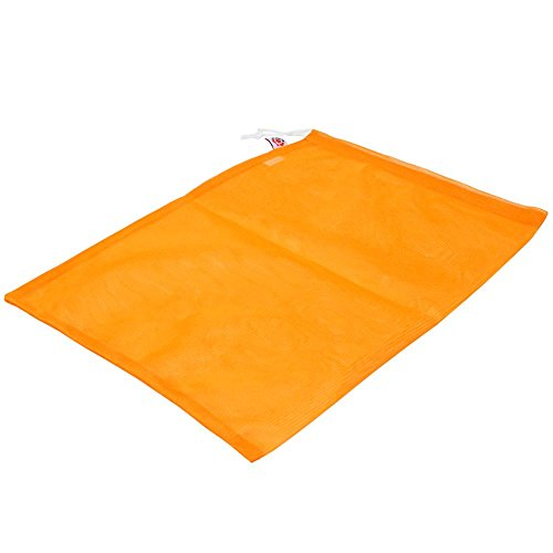 Orange polyester mesh tulle bag with drawstring 30x38cm (6 pieces) by Ling