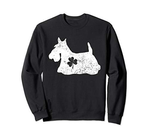 Scottish Terrier Shamrock Sweatshirt Dog Lover Patrick's Day
