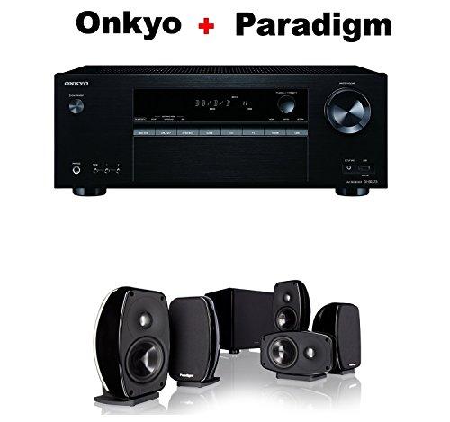 Onkyo-Authentic-Audio-Video-Component-Receiver-Black-TX-SR373-Paradigm-Cinema-100-CT-51-Home-Theater-System-Bundle