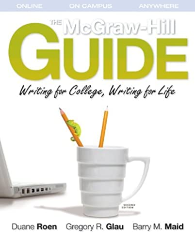 amazon com the mcgraw hill guide writing for college writing for rh amazon com mcgraw-hill's concise guide to writing research papers mcgraw hill guide to writing (asu #1230 custom 4th)