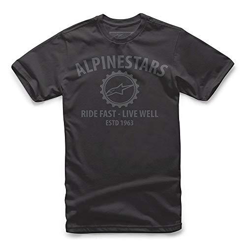 Alpinestars Men's Motorsports T-Shirts Modern Fit Short Sleeves, Big Gear El Black, XL