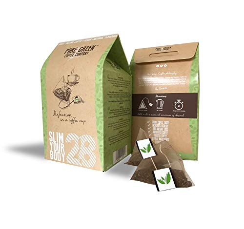 Pure Green Skinny Coffee 28 Day Detox Program. Help with Weight Loss and Fat Burner. Natural Appetite Suppressor…