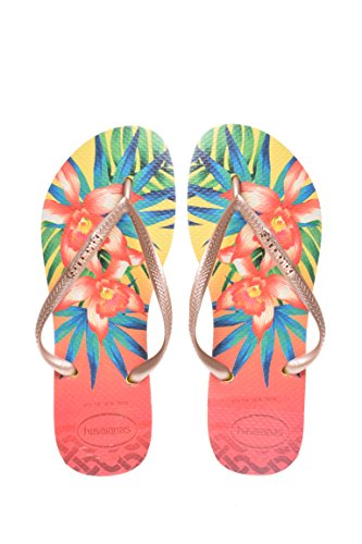 Havaianas Women`s Flip Flops Slim Tropical Sexy Sandals Many Colors Any Size. (41-42 BR / 11-12 B(M) US Women / 9-10 D(M) US Men, ()