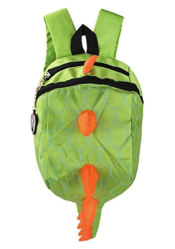 Liying Kinderrucksack Kindertasche Babyrucksack Schulrucksack Kinder Rucksack Tasche Cartoon Backpack für Kindergarten Schule Wandern Dinosaurier Grün