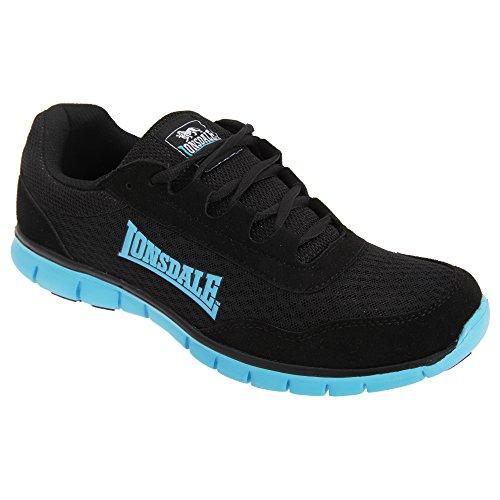 Lonsdale - Zapatillas deportivas Modelo Southwick hombre caballero Gris/Negro/Naranja