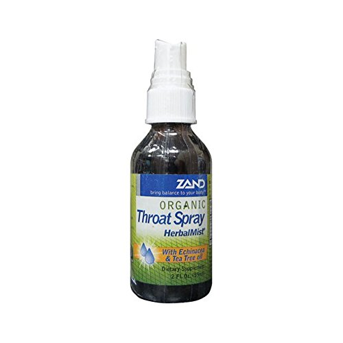 Organic Herbal Mist Throat Spray (Zand Organic Throat Spray HerbalMist -- 2 fl)