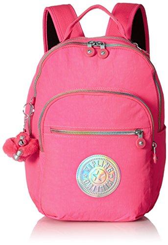- Kipling Women's Seoul GO S Surfer Pink Hologram Backpack