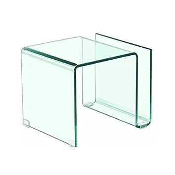 KITKAY Mesita, Mesa Auxiliar de Cristal Transparente doblado ...