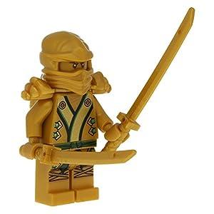 Worksheet. LEGO Ninjago minifigure Lloyd as Golden Ninja with 2 golden swords