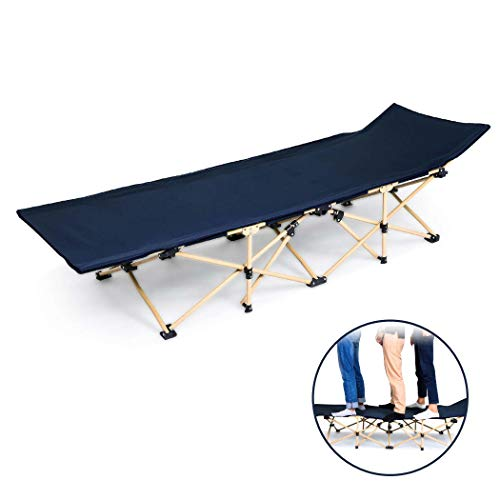 Folding Camping Cots for Adults, Lightweight Packable Single Bed with Storage Bag, Sturdy Portable Sleeping Cot for Camp Office Use