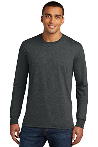 District Made Mens Perfect Tri Long Sleeve Crew Tee -