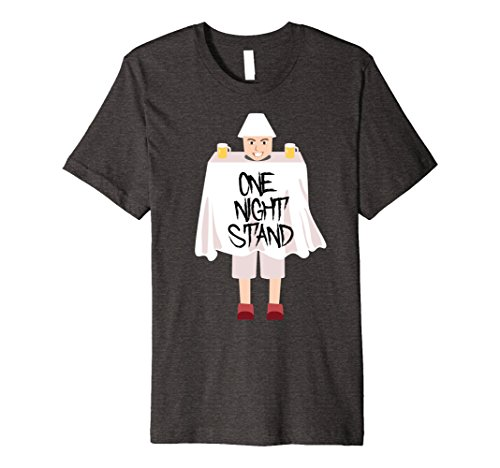 Funny Halloween Costumes One Night Stand (Mens One Night Stand Hilarious Weird Halloween Costume T-Shirt Large Dark Heather)
