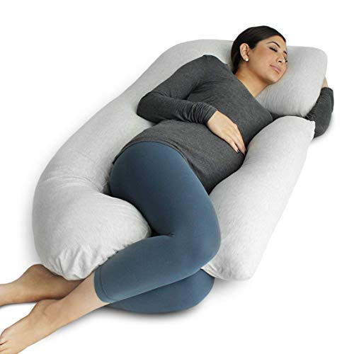 PharMeDoc Pregnancy Pillow, U-Shape Full Body Pillow and Maternity Support with Detachable Extension - Support for Back, Hips, Legs, Belly for Pregnant Women (Kozy Sleeper)