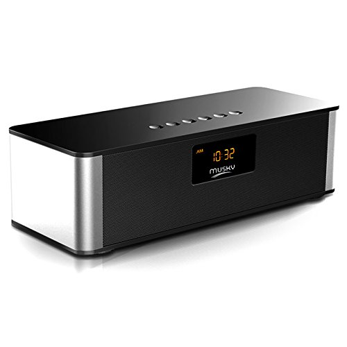 Wireless Bluetooth Speaker 10W Alarm Clock LED Time Display
