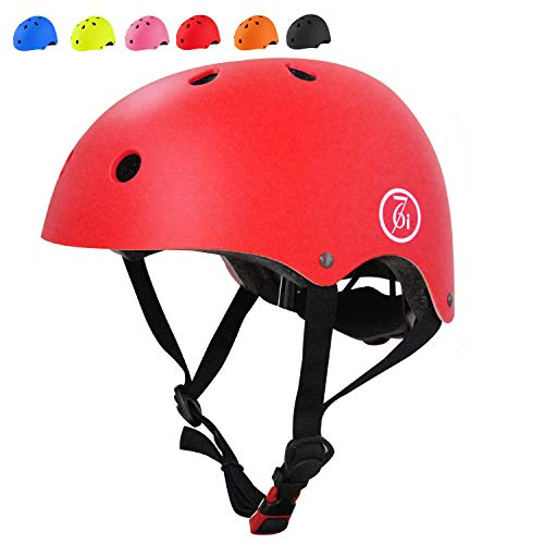 67i Kids Bike Helmet CPSC Certified Toddler Bike Helmet Adjustable and Multi-Sport from Kids to Youth 2 Sizes (Red, Medium)