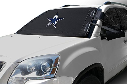 FrostGuard NFL Premium Winter Windshield Cover for Snow, Frost and Ice - Cold Weather Protection for Your Vehicle – Dallas Cowboys, Standard Size