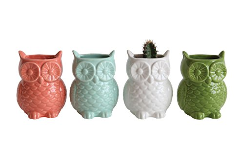Stoneware Owl Shaped Magnetic Vase